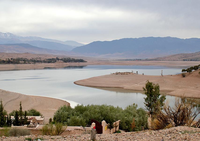 Business trip Marrakech lake
