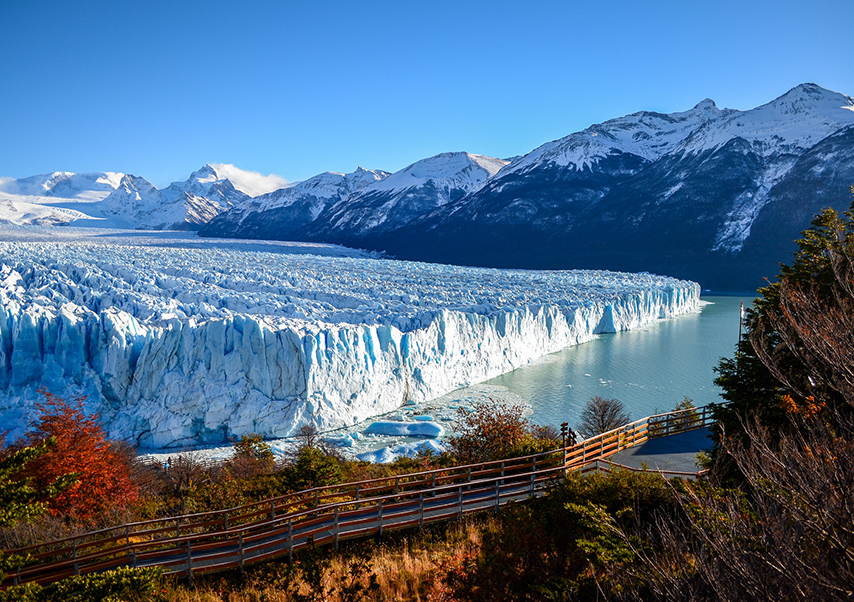 business trip argentina glacier