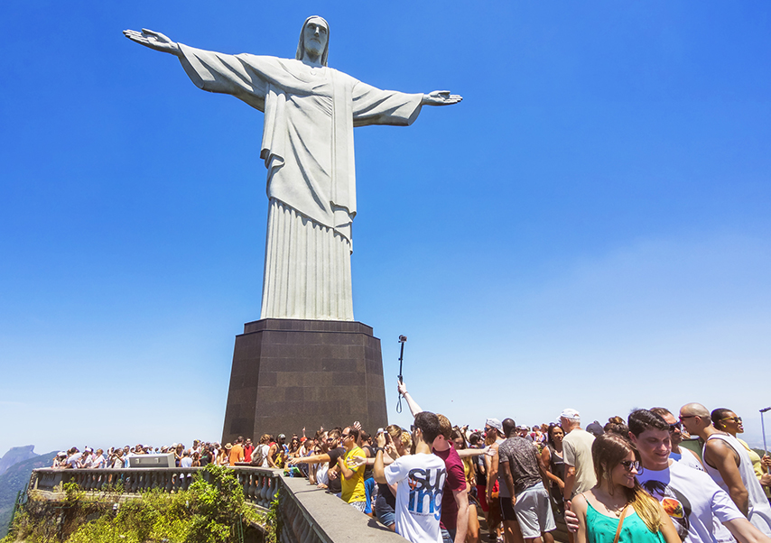 business trip brazil corcovado