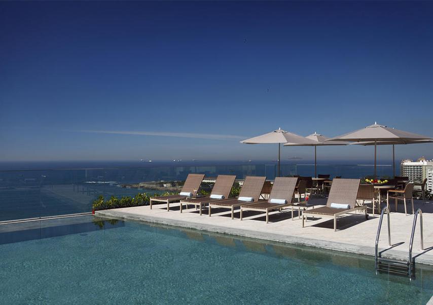 business trip brazil pool