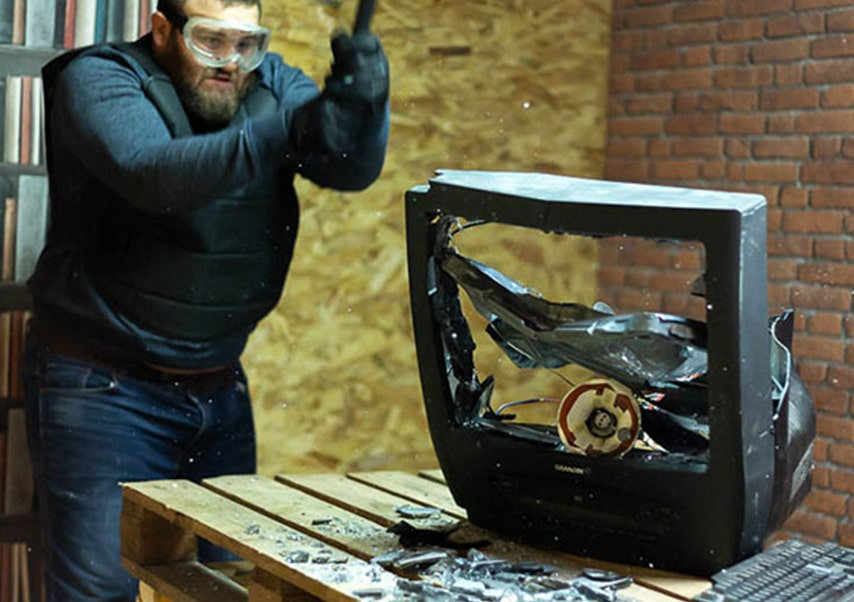 destruction team building TV