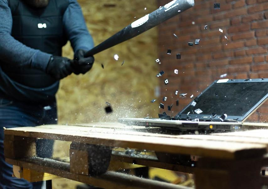 destruction team building computer