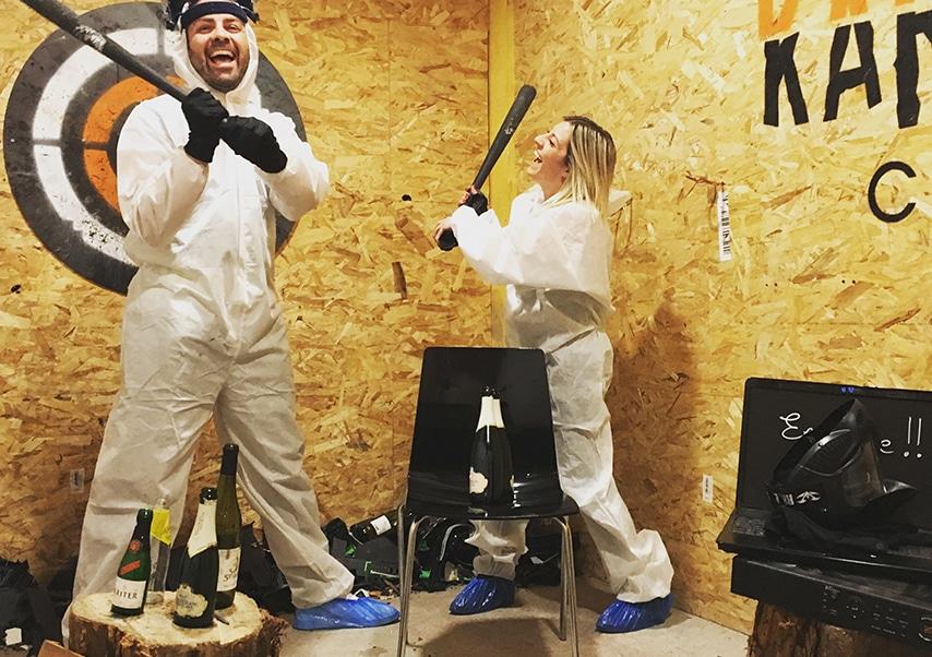 destruction team building rage