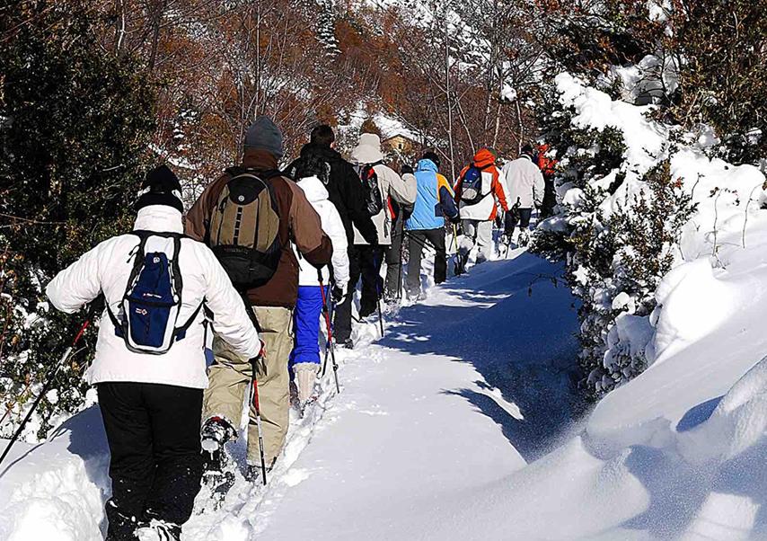 moutain seminar Spain snowshoe
