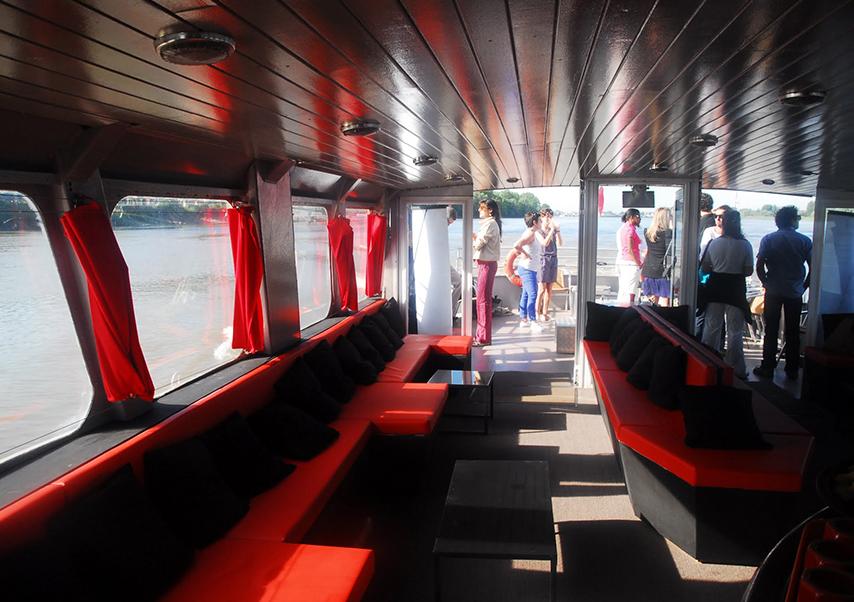 residential seminar Bordeaux boat